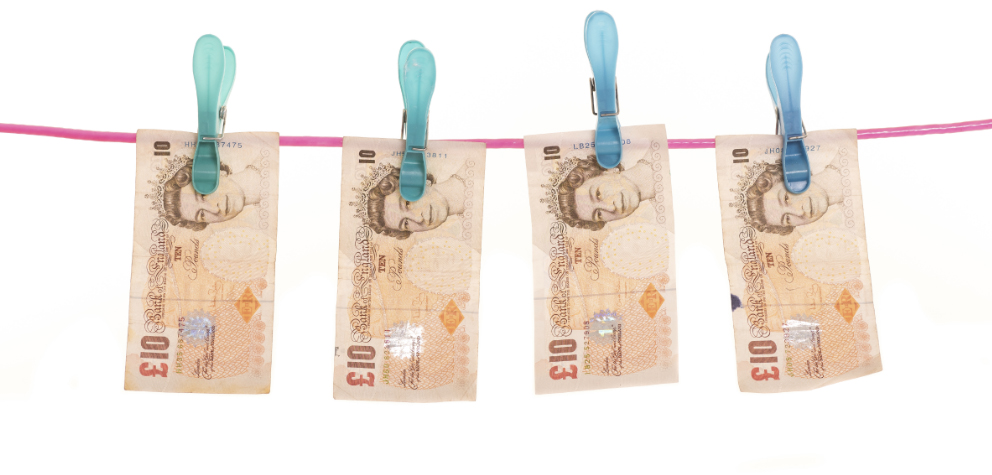 bank notes, laundered
