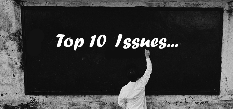 Top 10 issues