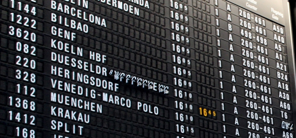 departure board european